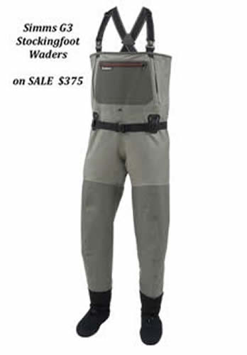Simms G3 Stockingfoot Waders - On Sale